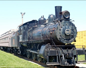 24x36 Poster; Burlington Railroad Locomotive Train 915,