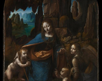 24x36 Poster; The Virgin Of The Rocks By Leonardo Da Vinci C1503