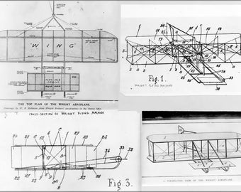 24x36 Poster; Wright Brothers Plane Patent Plans 1908