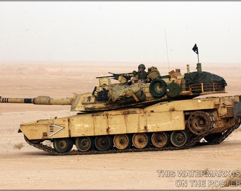 24x36 Poster; Usmc M1 Abrams