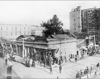 24x36 Poster; Off And Vaughn Drug Company, Fourth Street And Spring Street, Ca.1890 1900 (357) #031215