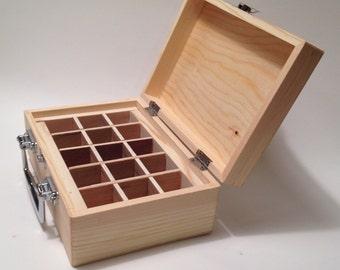 Midsize Essential Oil Box/Case holds (15) 15ml Bottles Shelf/Rack/Organizer