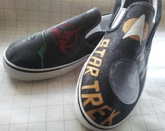 Custom painted Star Trek shoes