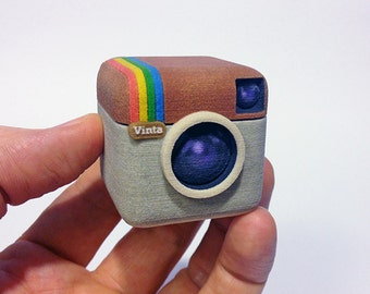 Instagram Style 3D Camera - Instagram Icon - Instagram Camera - Instagram Miniature - Instagram Meme - Instagram Gift - Camera 3D - Icon 3D