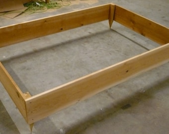 Brand New Raised Garden Planter, 4 feet by 6 feet, almost 6 inches high - Free Shipping