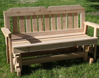Brand New 6 Foot Cedar Wood Victorian Outdoor Glider - Free Shipping