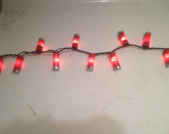 100 Shotgun Shell Christmas lights! String with 100 lights and green wire