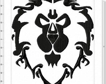 World of Warcraft Alliance Symbol Machine Embroidery Design
