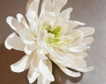 Handmade Brooch with Chrysanthemum. Handmade Women Jewerly Accessories. Fashion Flower Floral Brooch. Cold porcelain.