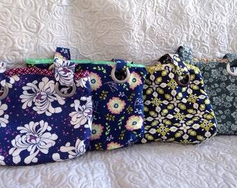 Handbag Choice of Blue Grommet Bag