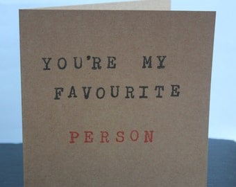 You're My Favourite handmade card by Dotty Rainbow