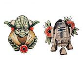 Sets Star Wars temporary tattoos