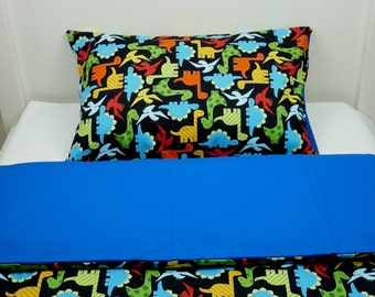 Bedding set - dinosaurs & pacific blue + FREE PILLOW and DUVET