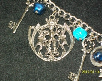 Medieval Bracelet with Knight in Shining Armor Pendant