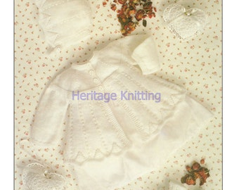 matinee jacket bonnet and bootees 4 ply knitting pattern 99p
