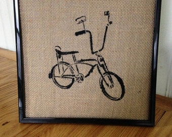 big handle bar bike framed art