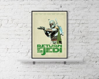 STAR WARS Inspired A Return Of The Jedi Movie Wall Poster Print Geaorge Lucas Home Decore Art Print A3