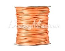 1 Roll/80m Orange Yellow Polyester Cord Wire Thread String Jewelry Making 2x2mm New  TC0114-35