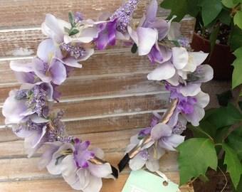 Wedding Hair Band - Bridal Hair Band - Flower Hair Band - Wedding Hair Accessories - Bridal Hair Accessories - Purple Hair Band