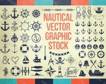 Nautical & Anchor Designs - VECTOR Graphic Files - Clip Art - Set