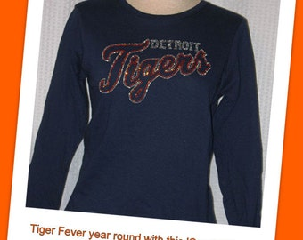 Detroit Tigers (Long Sleeve) T-Shirt in Navy