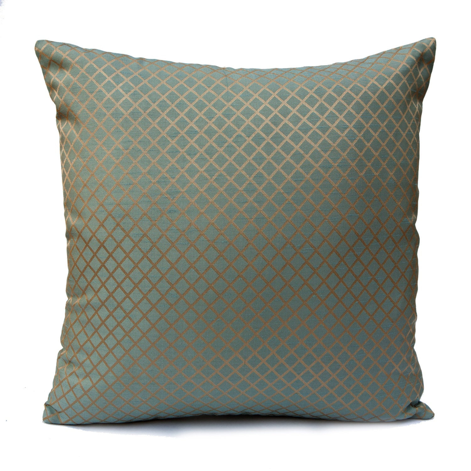 Blue and Beige Pillow Throw Pillow Cover Decorative Pillow
