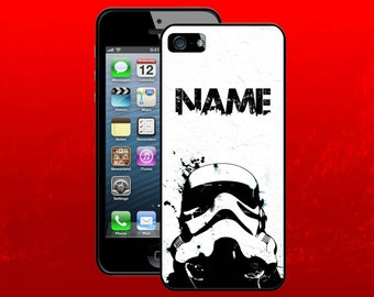 STAR WARS inspired case for iPhone 4 4s 5 5c 5s 5 6 6Plus 7 7Plus  - with your name [Graffiti Stormtrooper]