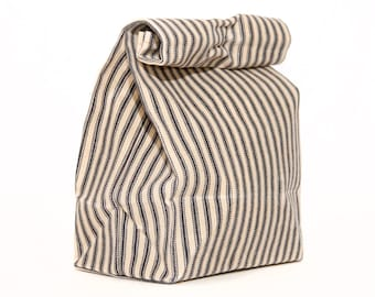 Lunch Bag // Waxed Canvas Lunch Bag // Lunch Bags // Canvas Lunch Bag