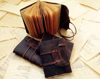 5x7 Handmade Brown Leather Journal with Parchment Pages