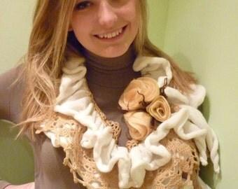 Handmade, Scarf, Scarves & Wraps, Accessories , knitted scarf, women's knitted scarf, coffee scarf , elegant scarf, Scarfs,coffee