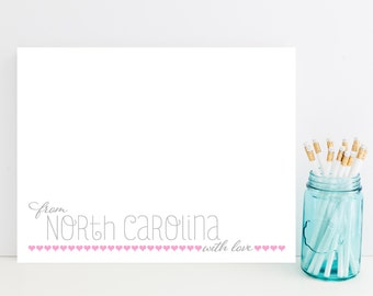 State Stationery - State Stationary - North Carolina Stationery - Choose Your State