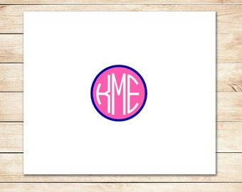 Quick Monogram Notecards - Monogram Stationery, Stationary