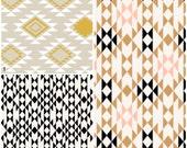 Blanket Teether or Cloud Pillow - Aztec, Navajo, Geometric, Boho, Woodland, Tribal, Western - Organic Sateen Cotton & Minky