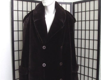 Brand new brown sheared beaver fur jacket half coat  for men man size all custom made