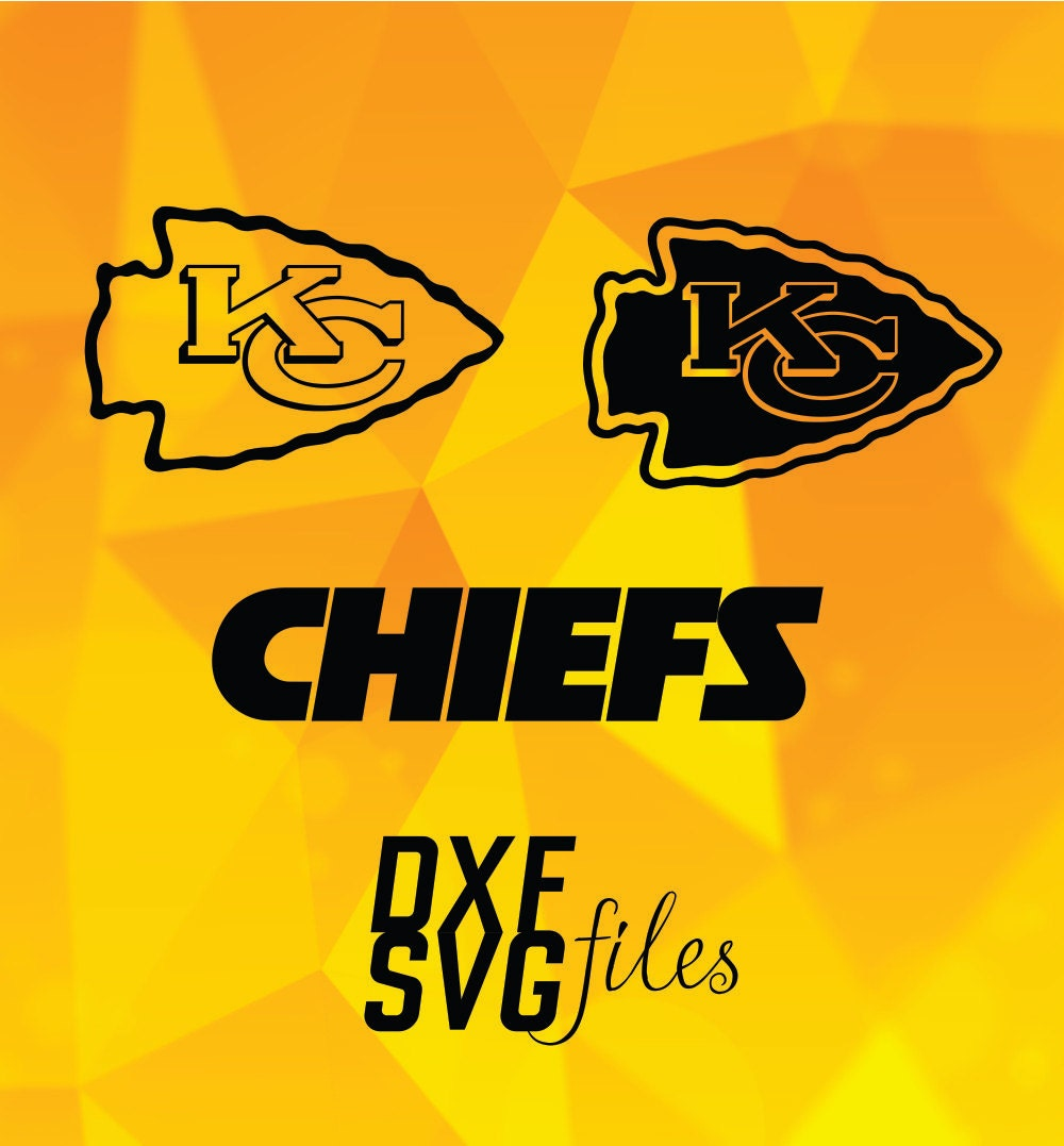 Download 3 Kansas City Chiefs logos in DXF and SVG files Instant by ...