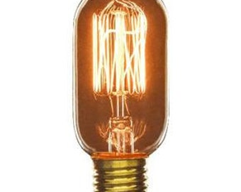 3-Pack Edison Light Bulbs, Tubular 40W T14, Edison Light Bulb, Antique Light Bulb, Industrial Lighting, DIY Decor, Industrial Light, Bulb