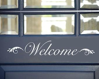Welcome sign, Vinyl Welcome Sign, Front Door Welcome Sign, Welcome decor, Front Door Sign, Front Door Welcome, Welcome Decal, Door Decal