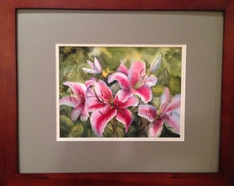 Rubrum Lillies WaterColor
