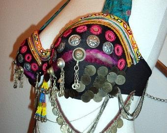 Tribal-Coin-Bra black Size 85 C