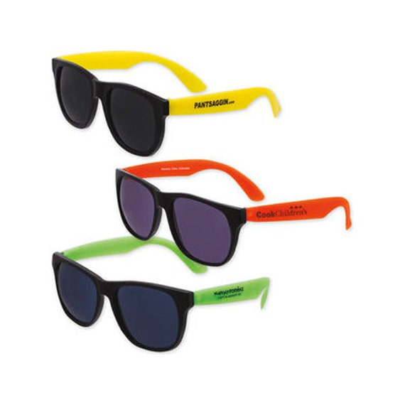 250 Personalized Economy Neon Sunglasses By PersonalizeGuys