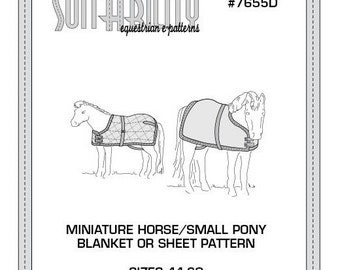 PDF Miniature Horse or Small Pony Blanket/Sheet Pattern