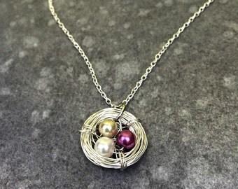 Simple Bird Nest Necklace
