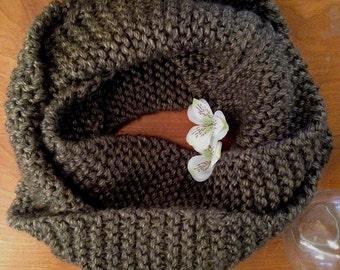Warm Knitted Infinity Scarf