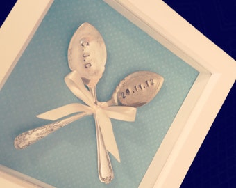 Personalised Spoon Frame (Wedding, Engagement, Baby)