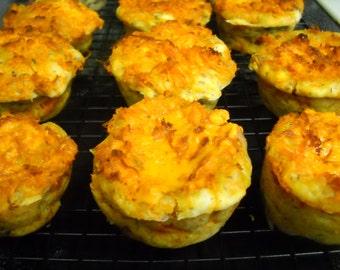 Vegan Sausage and Cheese Muffins - 1 Dozen