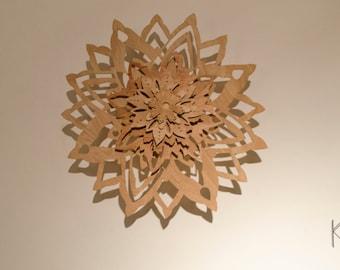 Mandala Wood Carving