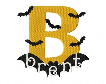 Halloween Bat Machine Embroidery Monogram Font Alphabet Design Set INSTANT DOWNLOAD