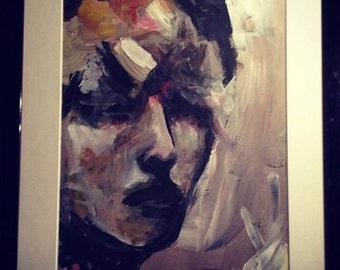 Lady Mystique - Acrylic painting - PRINT A3