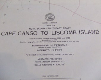 Nova Scotia, Southeast Coast ~ Cape Canso to Liscomb Island - Includes St. Catherine River and Country Harbor, Nautical Chart #1201