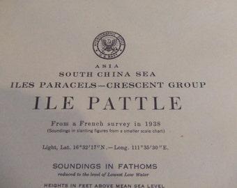 Ile Pattle ~ Iles Paracels, Crescent Group - South China Sea - Asia - Includes Ile Robert - Nautical Chart #6335